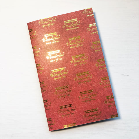 The Most Wonderful Time Cahier Size Notebook