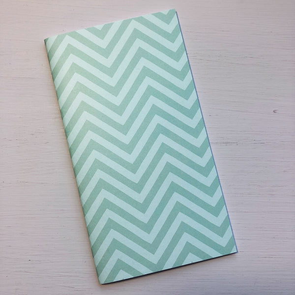 Green Zigzag Personal Size Notebook