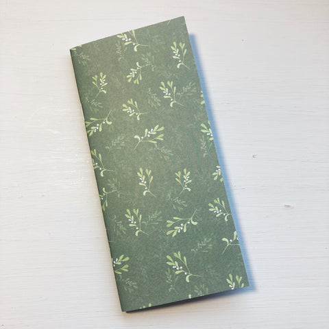 Green Mistletoe Hobonichi Weeks Size Notebook