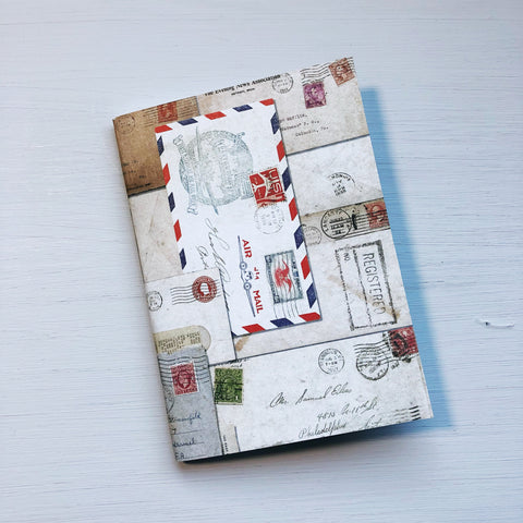 Vintage Airmail A6 Size Notebook - A