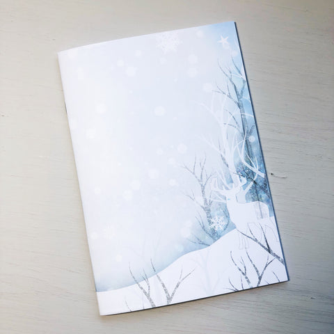Snowy Deer A5 Size Notebook