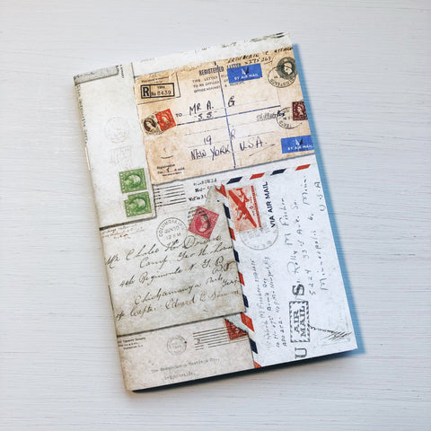 Vintage Airmail A6 Size Notebook - B