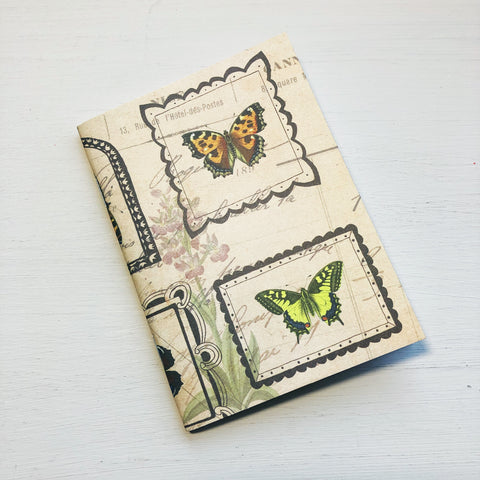 Butterfly Portrait Passport Size Notebook
