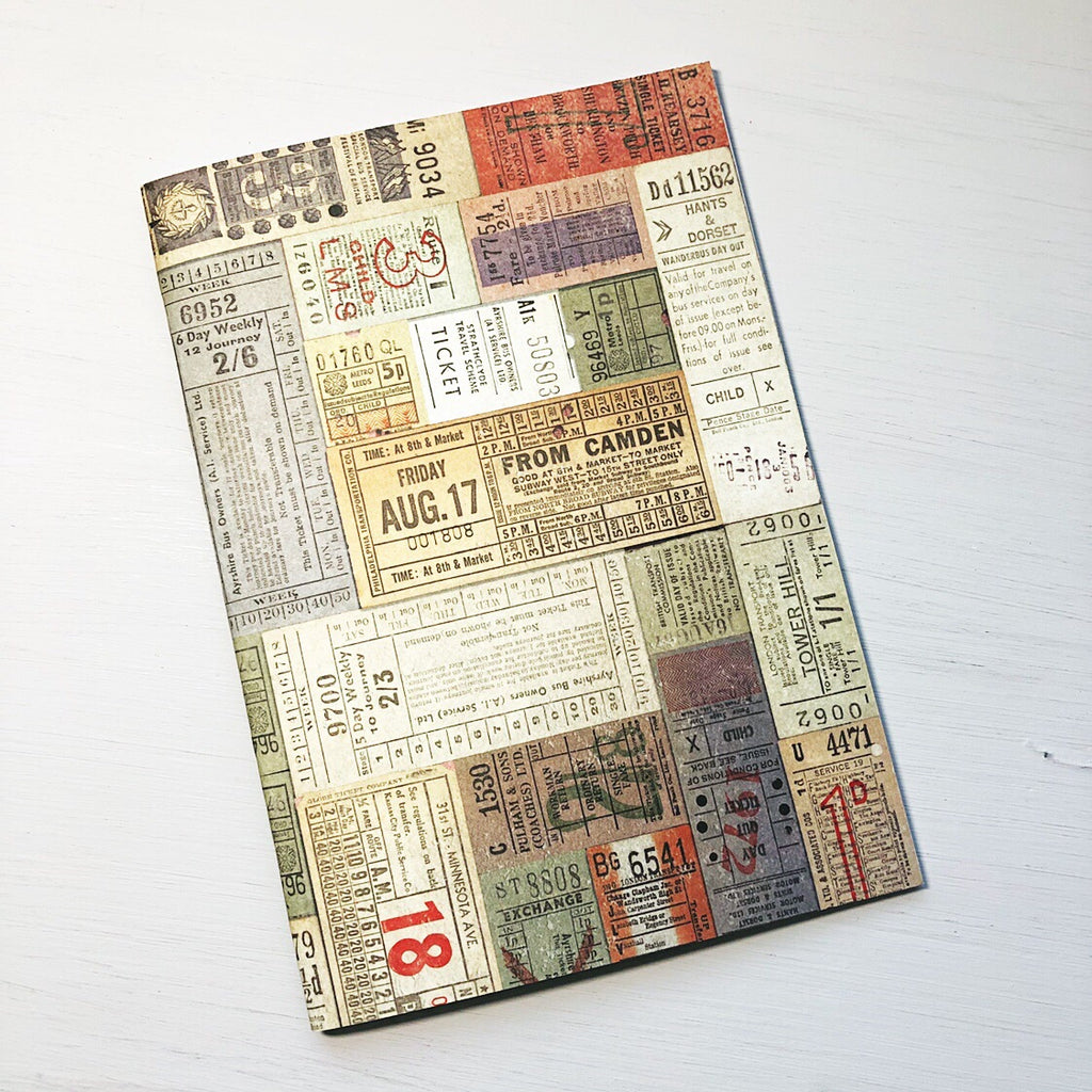 Vintage Ticket A5 Size Notebook