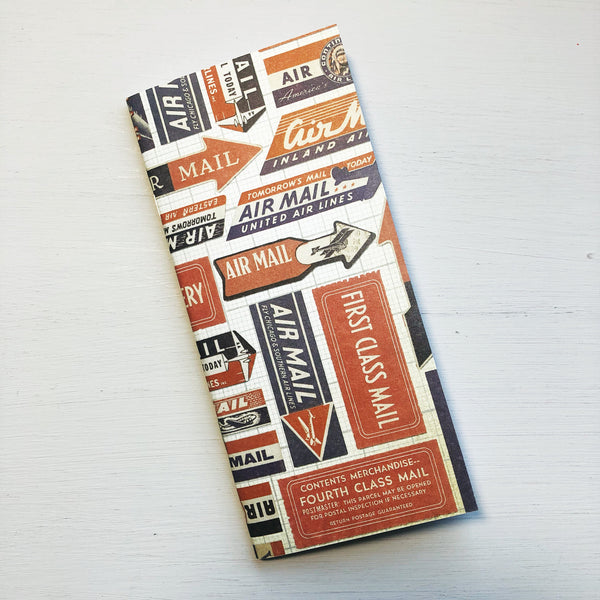 Vintage Air Mail Label Hobonichi Weeks Size Notebook