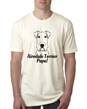 Airedale Terrier Papa Men's T-Shirt