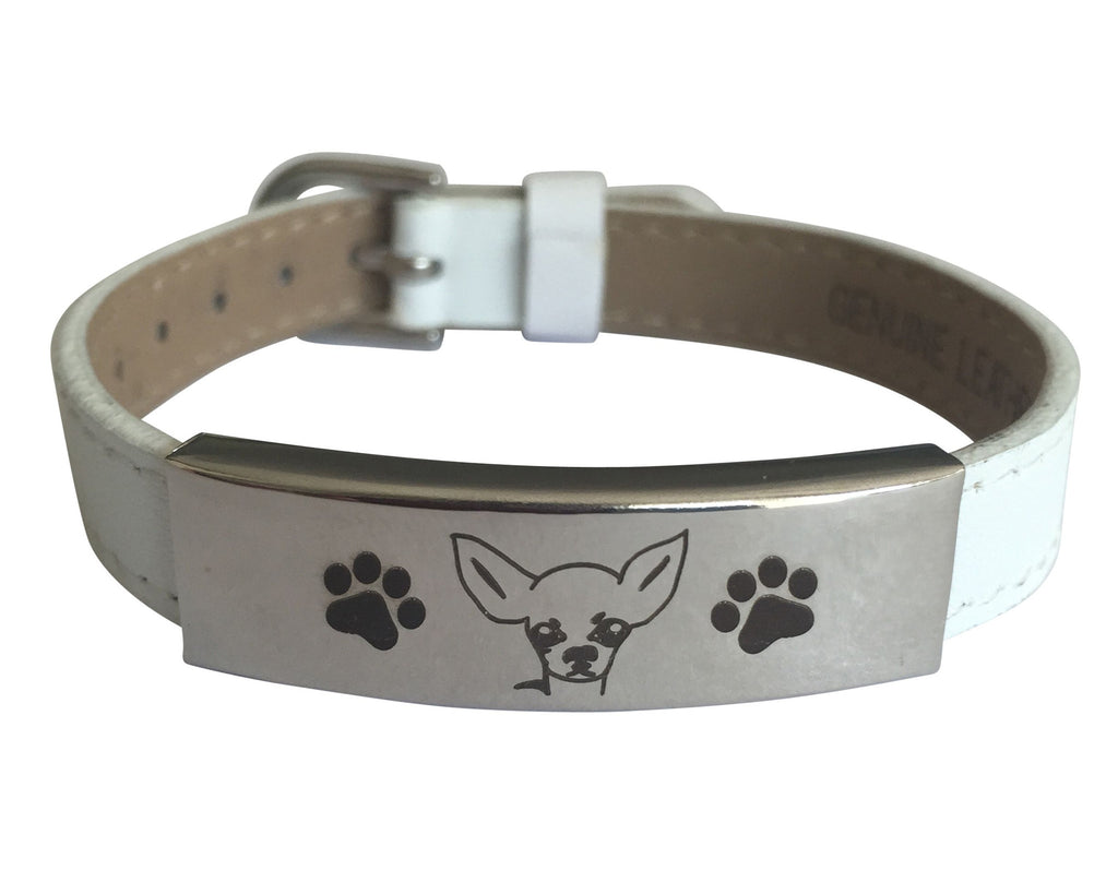 Adjustable Engraved Chihuahua Bracelet (50% OFF)