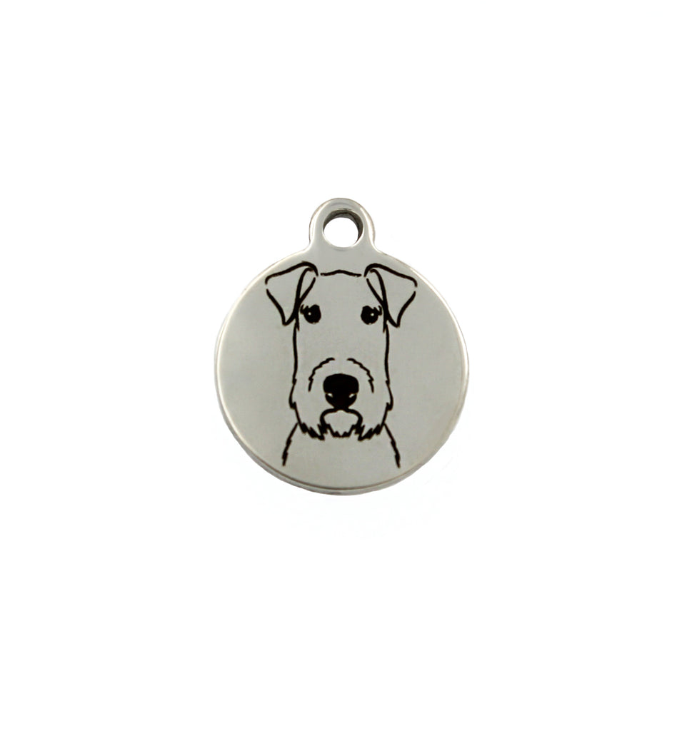 Welsh Terrier Portrait Charm