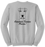 Airedale Terrier Mama Unisex Sweatshirt (Run Big)