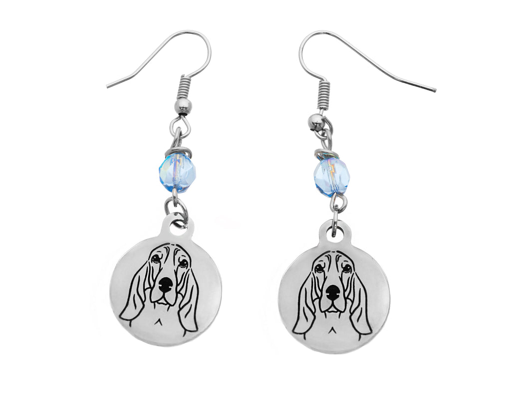 Bloodhound Portrait Earrings