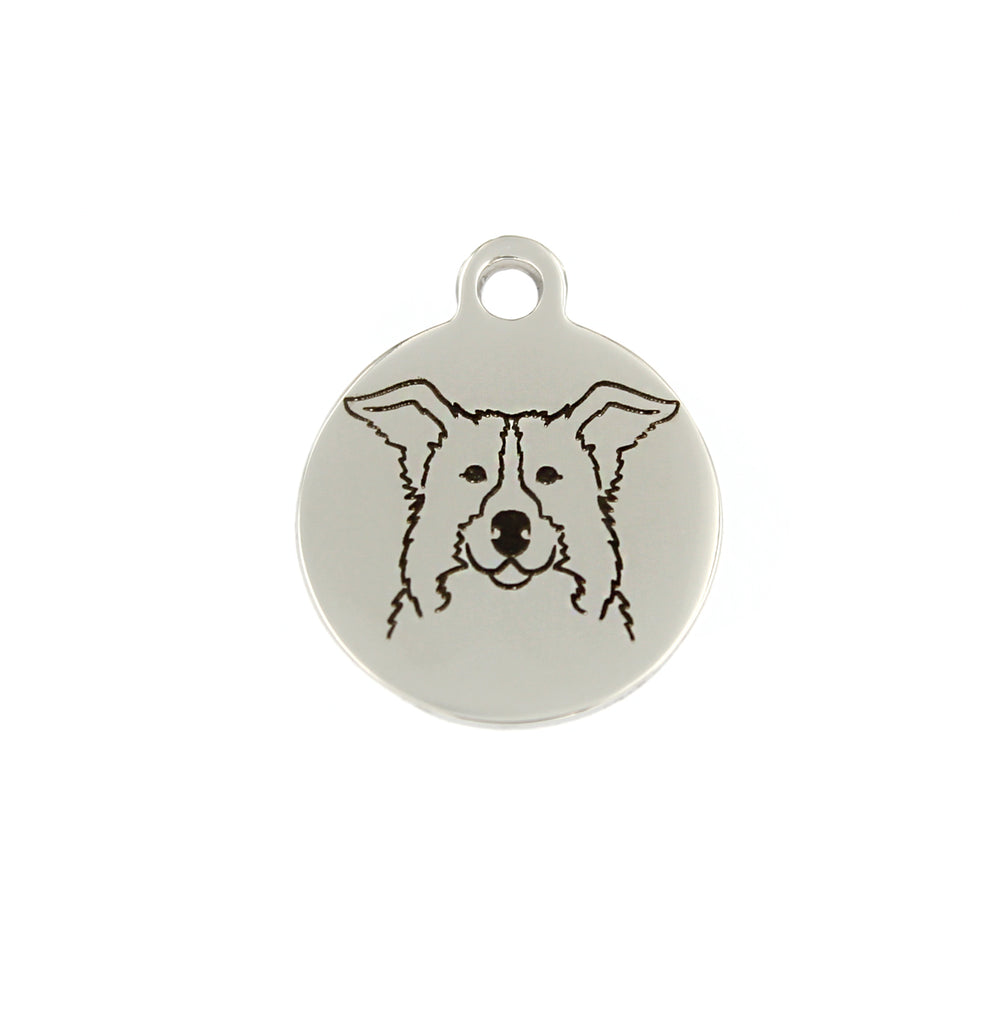 Border Collie Portrait Charm