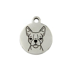 Boston Terrier Portrait Charm
