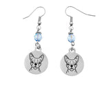 Boston Terrier Portrait Earrings