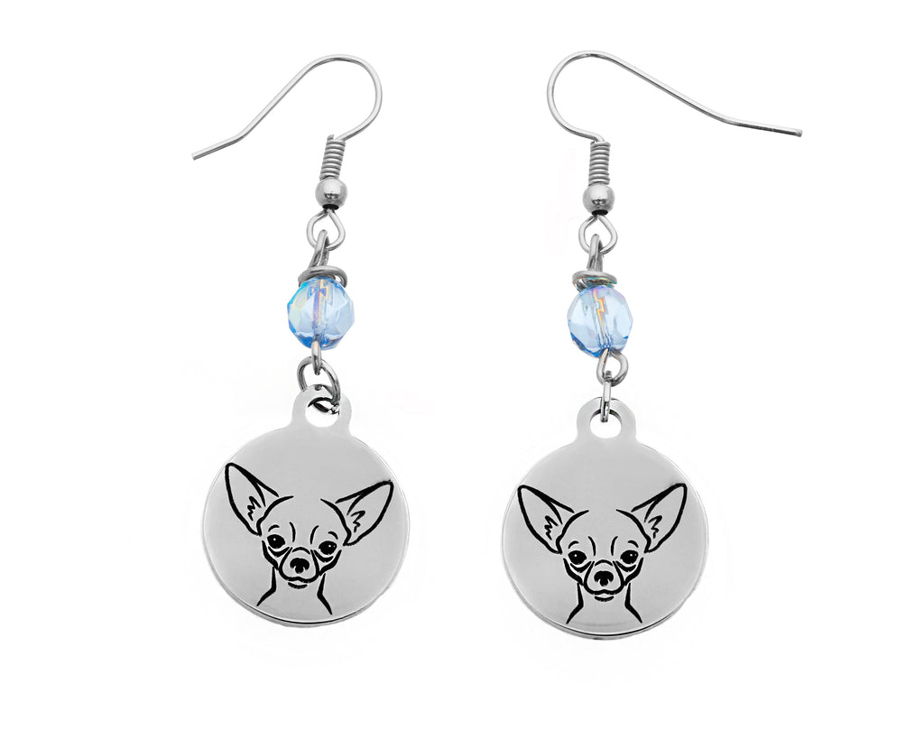 Chihuahua Portrait Earrings