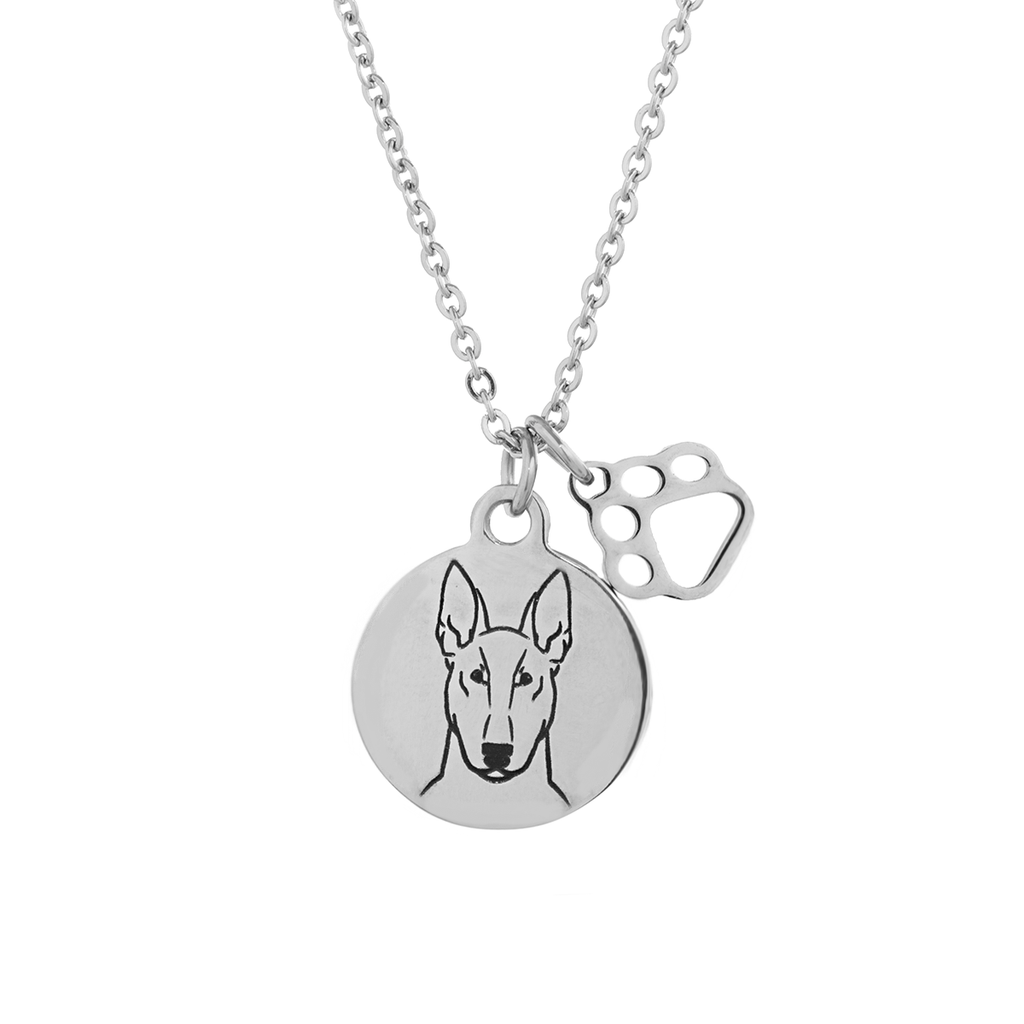 Bull Terrier Portrait Necklace