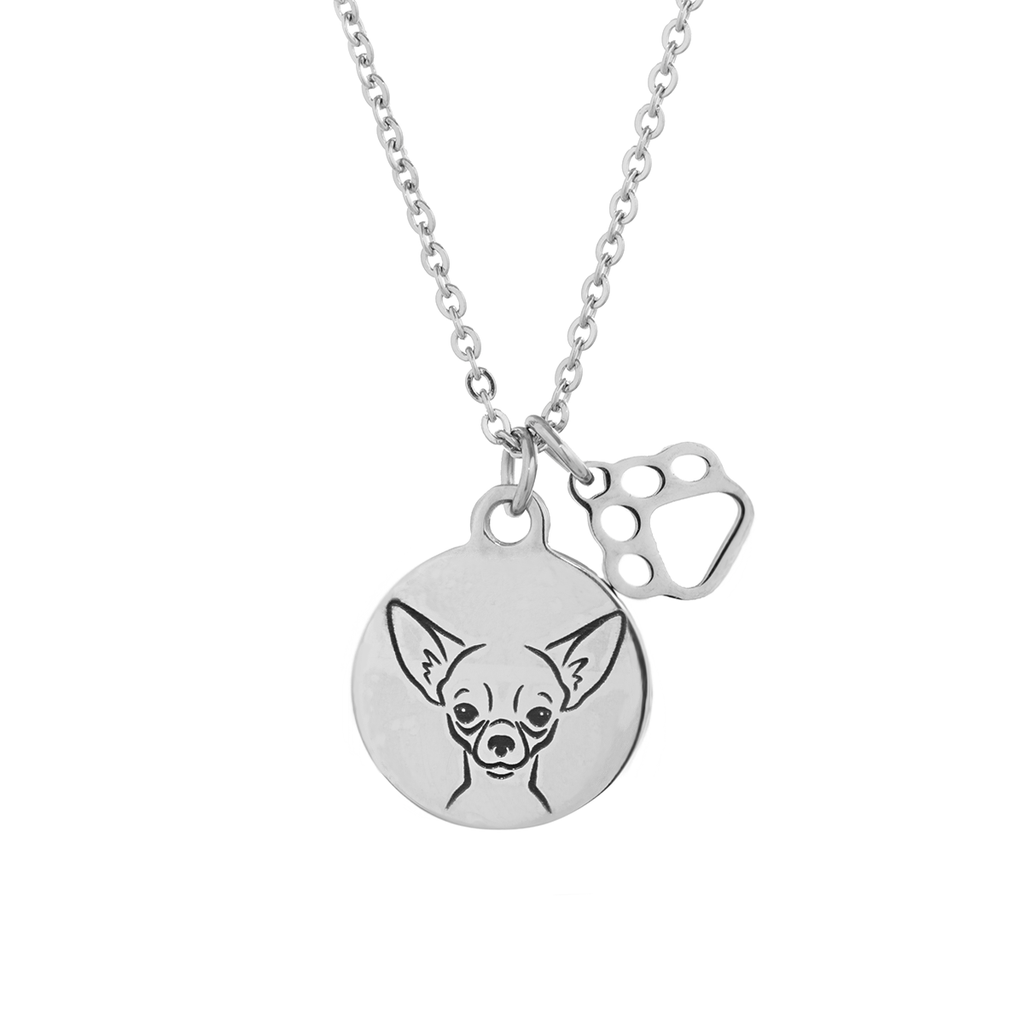 Chihuahua Portrait Necklace