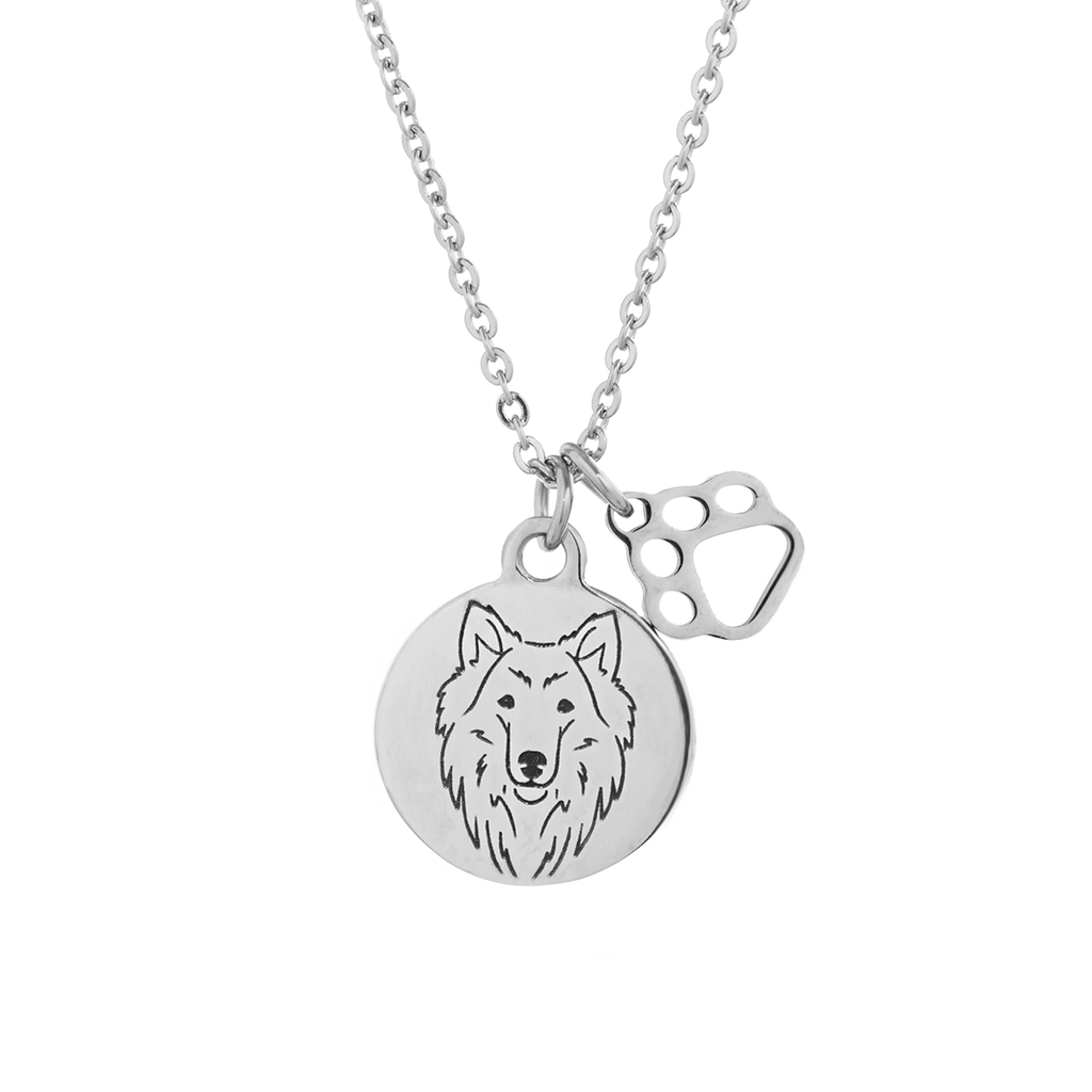 Collie Portrait Necklace