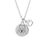 American Bully Portrait Necklace