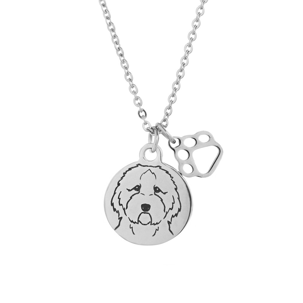 Labradoodle Portrait Necklace