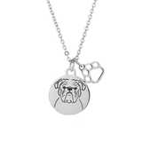 English Bulldog Portrait Necklace