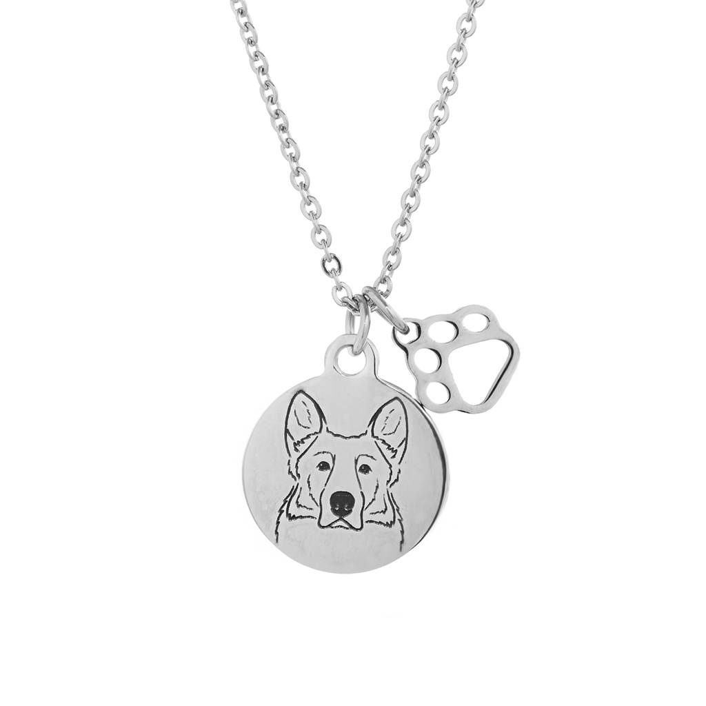 Belgian Malinois Portrait Necklace