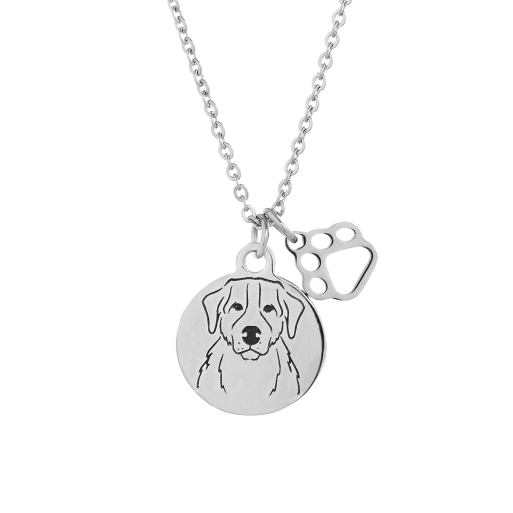 Bernese Mountain Dog Portrait Necklace