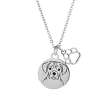 Puggle Portrait Necklace