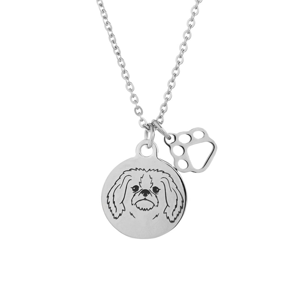 Pekingese Portrait Necklace