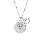 Basenji Portrait Necklace