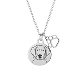 Weimaraner Portrait Necklace