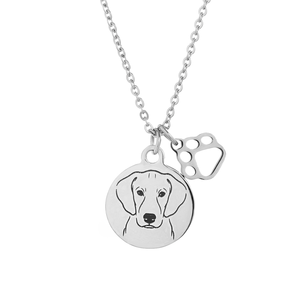 Blue Lacy Portrait Necklace