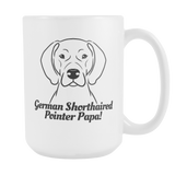 German Shorthaired Pointer Papa! Coffee Mug