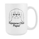 Japanese Chin Papa! Coffee Mug