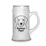Retriever Papa! Beer Stein