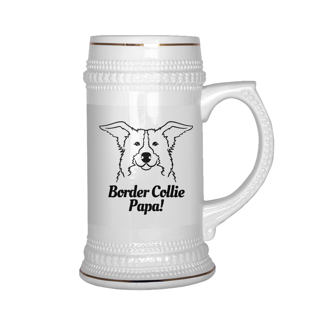 Border Collie Papa! Beer Stein