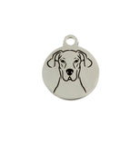 Great Dane Portrait Charm