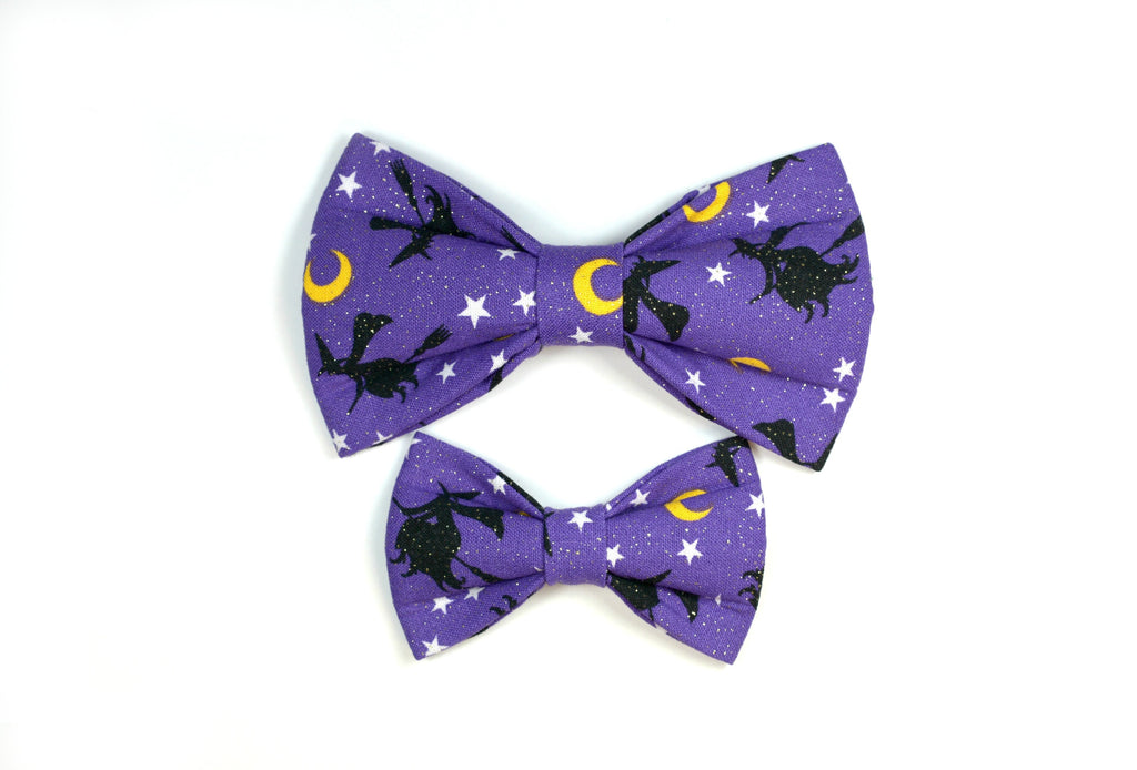 Purple Witches Bow Tie