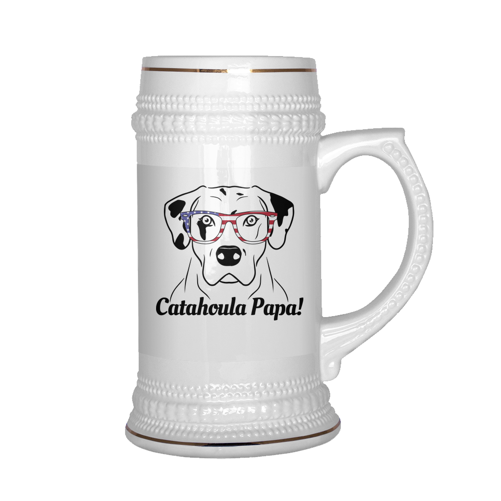 Catahoula Papa! Beer Stein