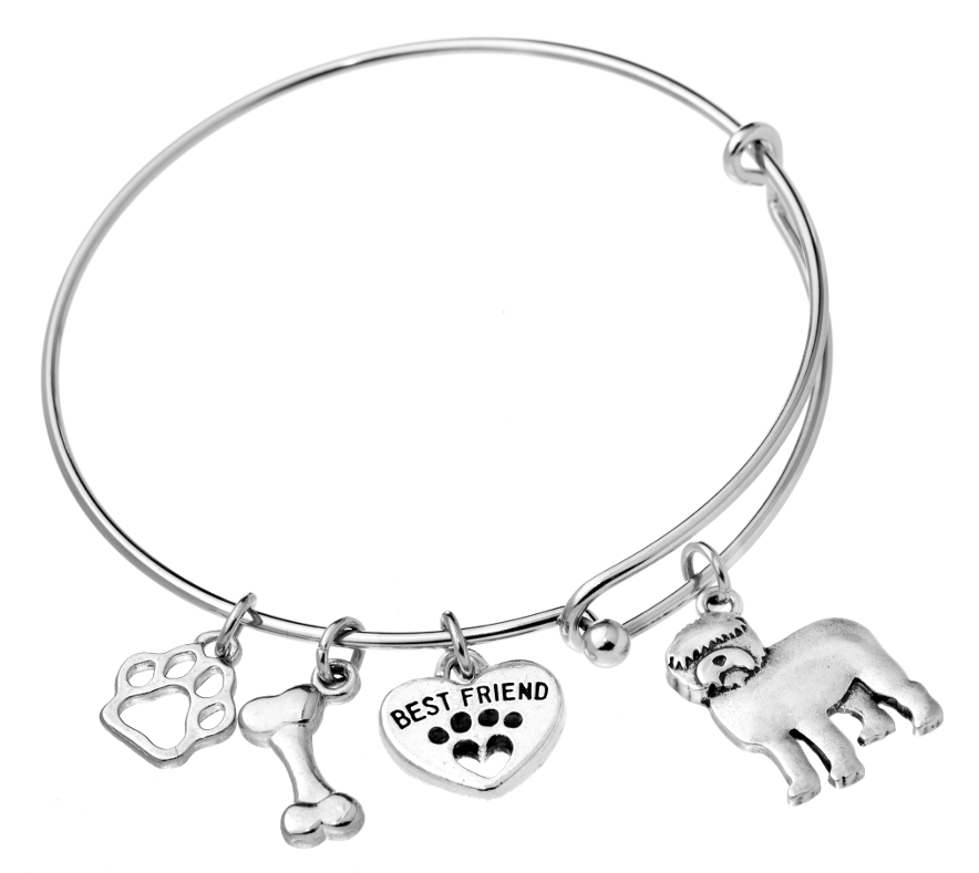 Old English Sheepdog Bangle Bracelet