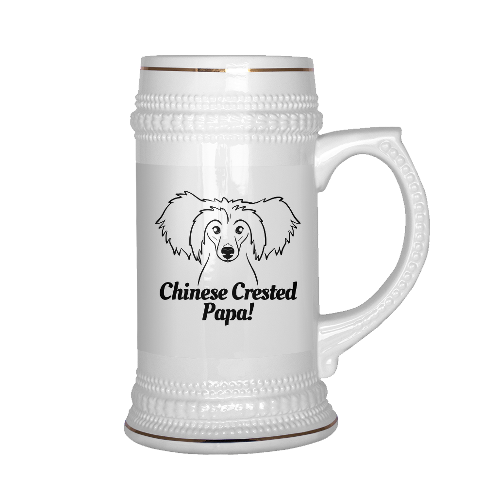 Chinese Crested Papa! Beer Stein