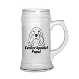 Cocker Spaniel Papa! Beer Stein