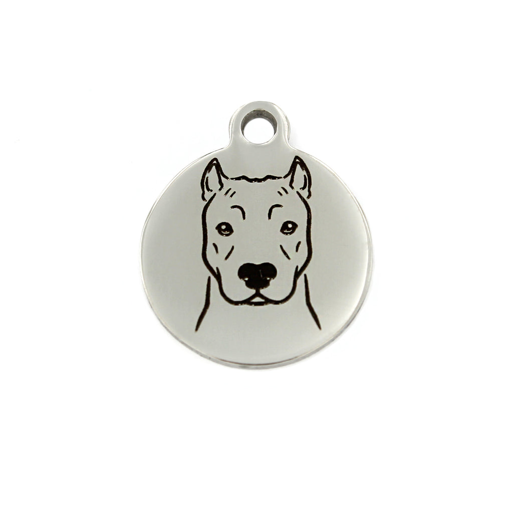 Pit bull (cropped ears) Portrait Charm