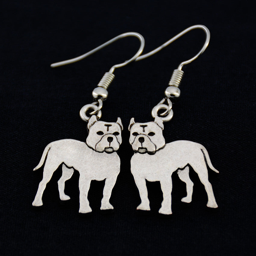Pit Bull (Cropped Ears) Vintage Earrings