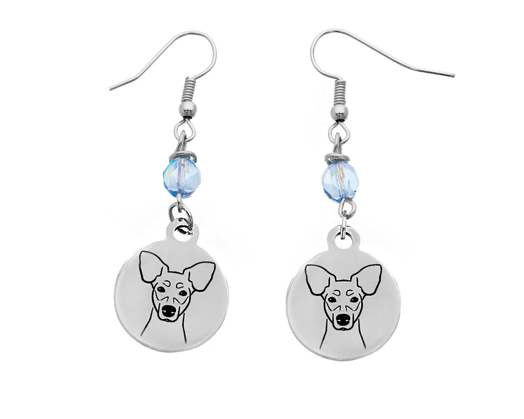 Rat Terrier Portrait Earrings