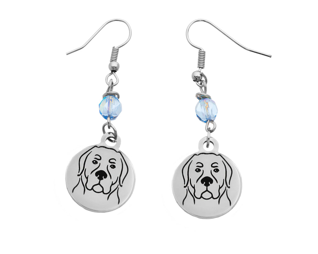 Rottweiler Portrait Earrings