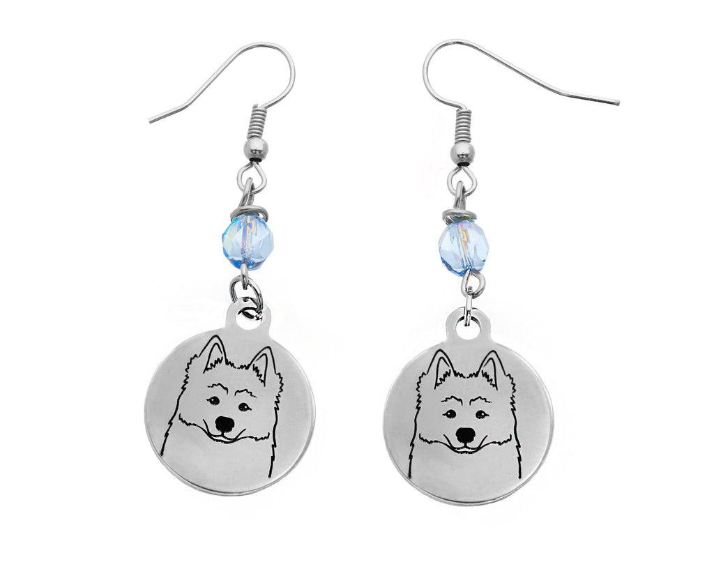 Samoyed Portrait Earrings