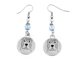 Shar Pei Portrait Earrings
