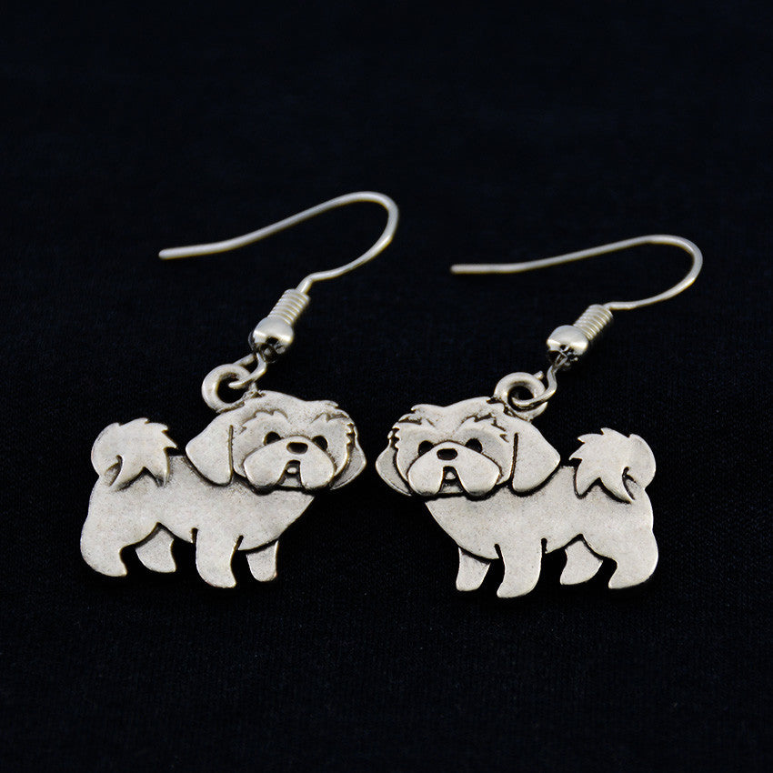 Shih Tzu Vintage Earrings