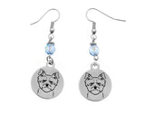 Silky Terrier Portrait Earrings