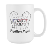 Papillon Papa! Coffee Mug